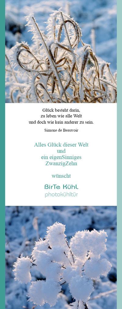 Birte Kühl, Fotografie Bremen Neujahrsgruss